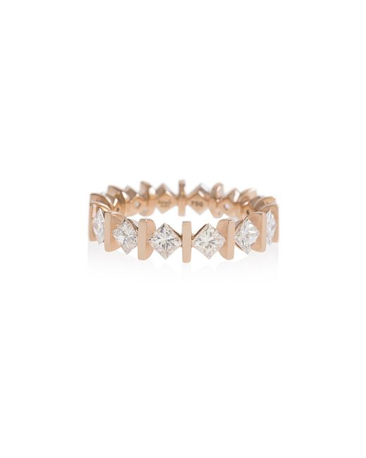 Shamsa Alabbar | Metallic Monolith Princess Diamond Ring | Lyst