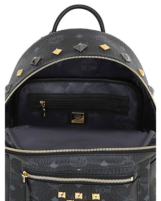 MCM | Black 'stark' Medium Backpack | Lyst