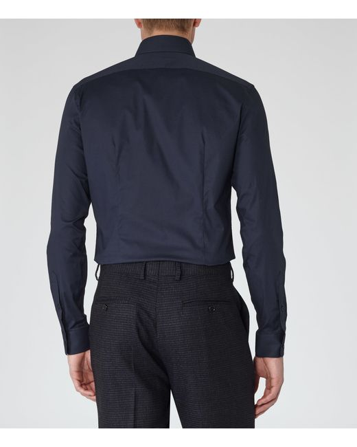 Reiss | Blue Zinc Slim Stretch Shirt for Men | Lyst