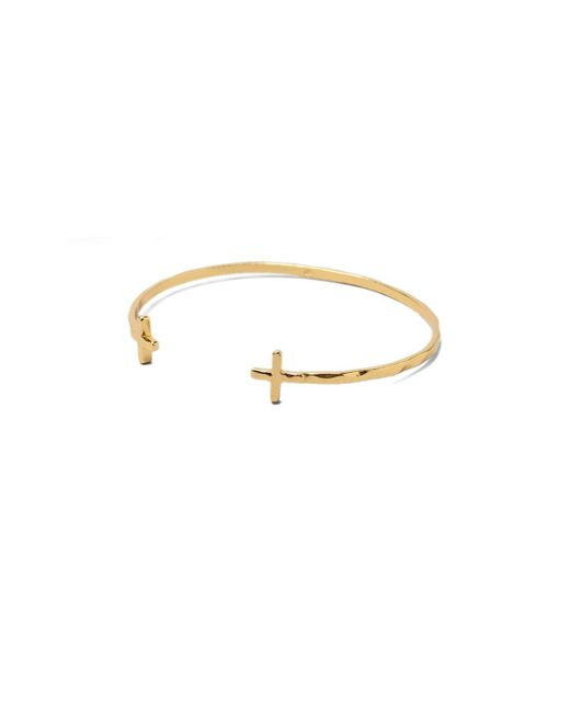 Gorjana | Metallic Cross Over Cuff Bracelet | Lyst