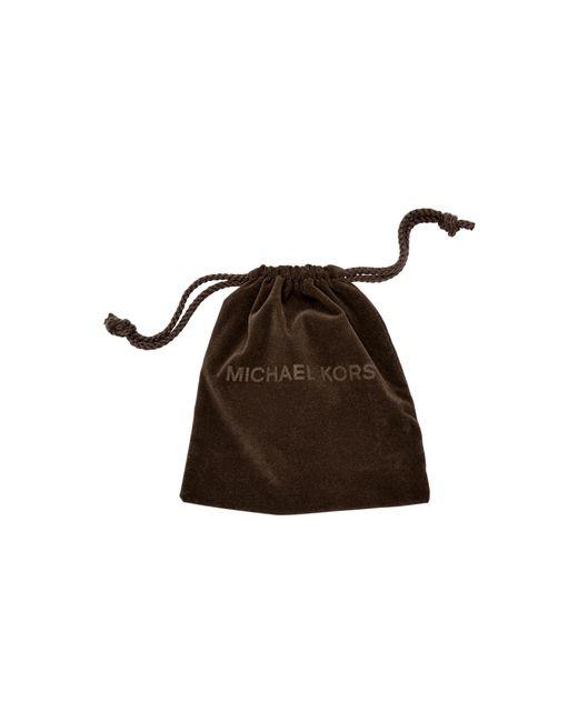 Michael Kors   Brown Cubic Zirconia Silver-tone Slider Bracelet   Lyst