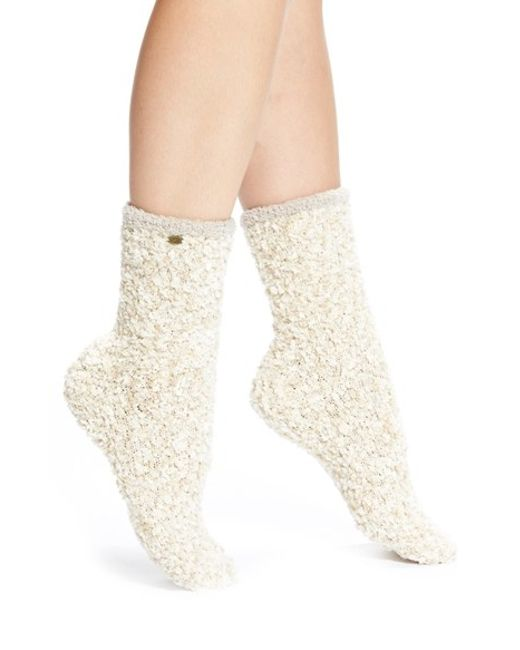 UGG | Natural Ugg Australia Chenille Crew Socks | Lyst