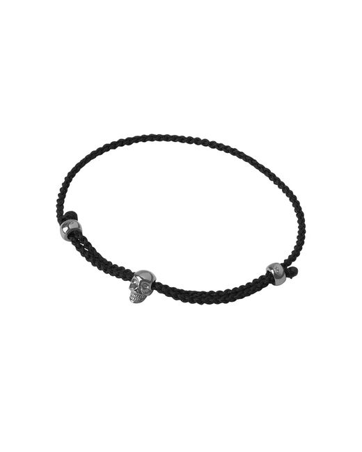 Links of London | Mini Black Oxidised Skull Cord Bracelet | Lyst
