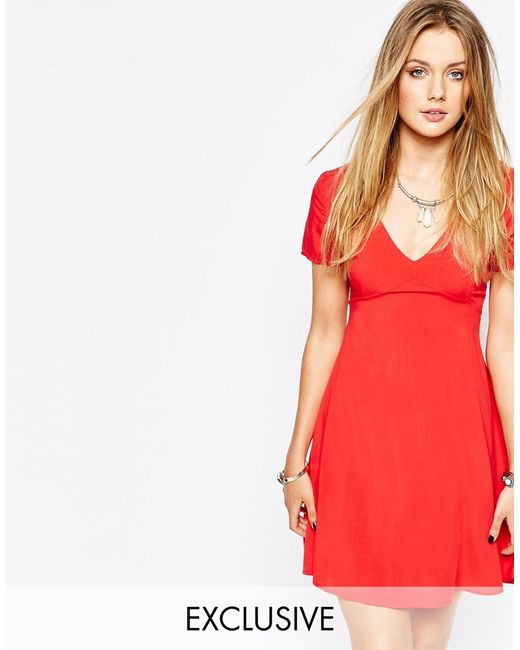 Glamorous | Red Tea Dress | Lyst