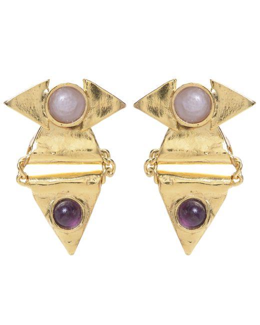 Jill Golden | Metallic Reflection Triangle Earring | Lyst