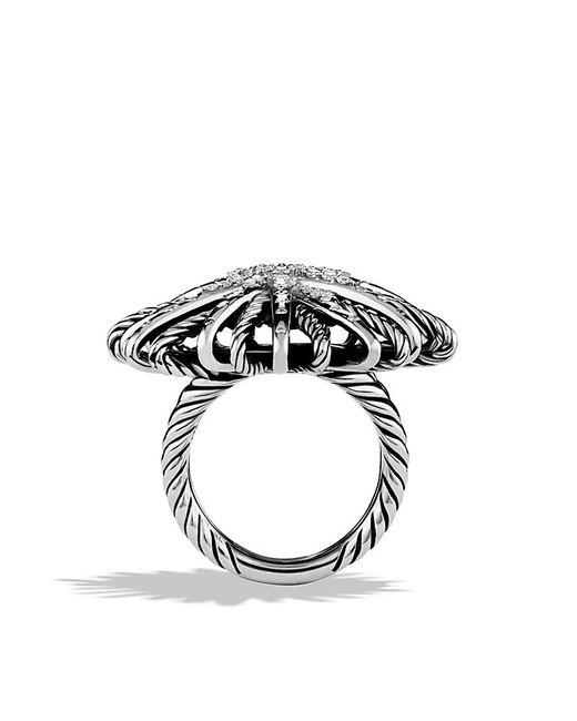 David Yurman | Metallic Starburst Ring With Diamonds | Lyst