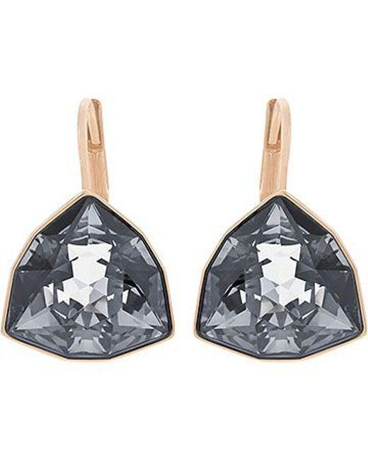 Swarovski | Metallic Brief Pierced Earrings | Lyst