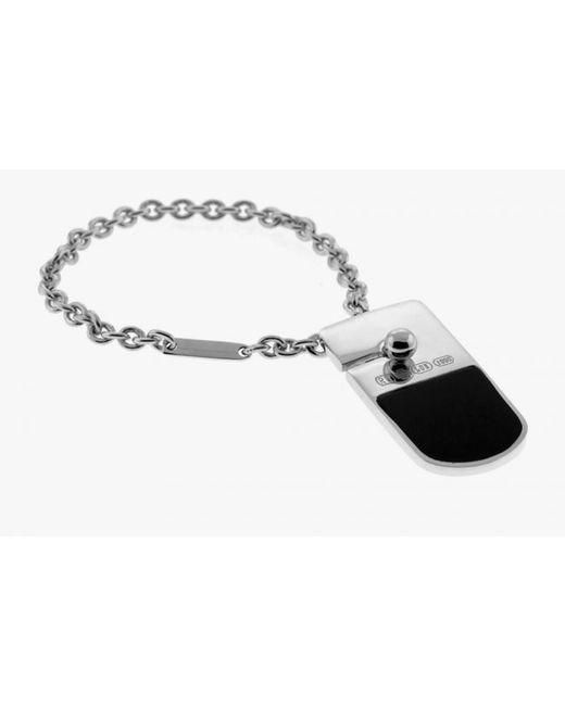 Tateossian | Black Trojan Classic Key Ring With Onyx for Men | Lyst