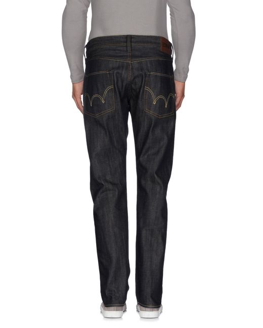Edwin | Blue Denim Trousers for Men | Lyst