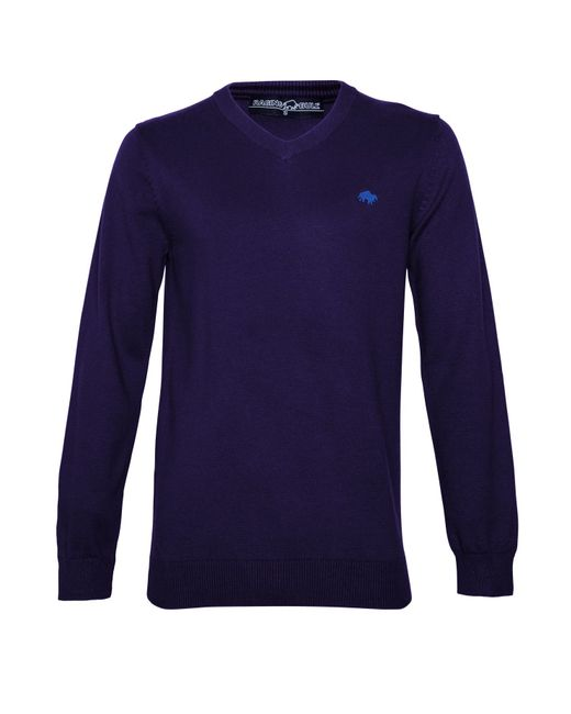 Raging Bull | Blue Big And Tall V-neck Cotton Cashmere Jumper for Men | Lyst