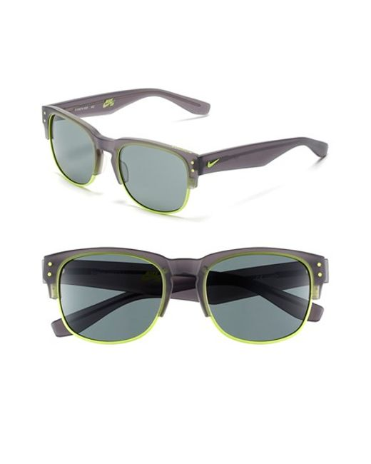 Nike | Gray 'volition' 54mm Sunglasses | Lyst