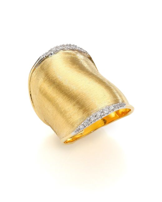 Marco Bicego | Metallic Lunaria Diamond & 18k Yellow Gold Ring | Lyst