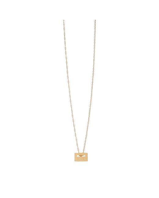 "Ginette NY | Metallic ""love"" Rose Gold Plated Necklace 