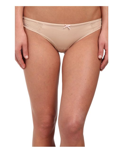 Betsey Johnson | Natural Slinky Knit & Lace Thong J2950 | Lyst
