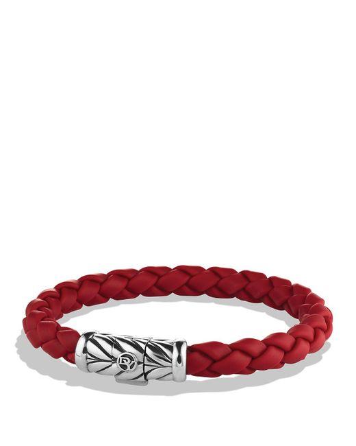 David Yurman | Metallic Chevron Bracelet In Red for Men | Lyst