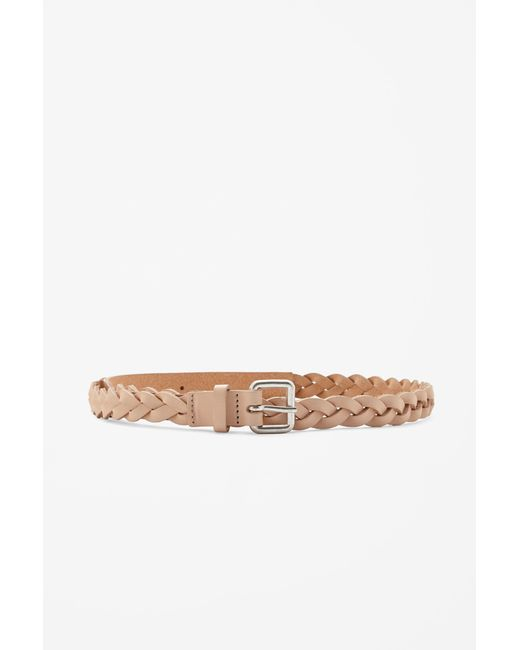 Cos Braided Leather Belt in Multicolor (Biscuit) - Save 48% | Lyst