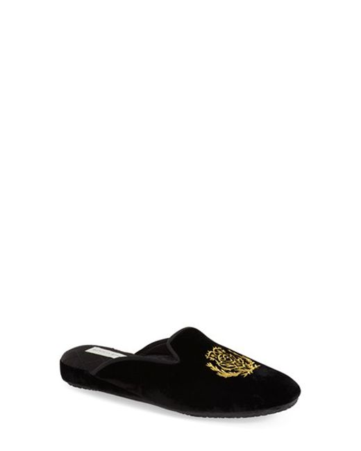 Patricia Green | Black Diana Faux-Suede Slippers | Lyst