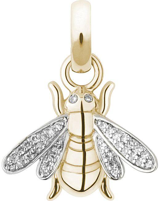 Links of London   Metallic Bee 18-carat Gold And Diamond Charm   Lyst