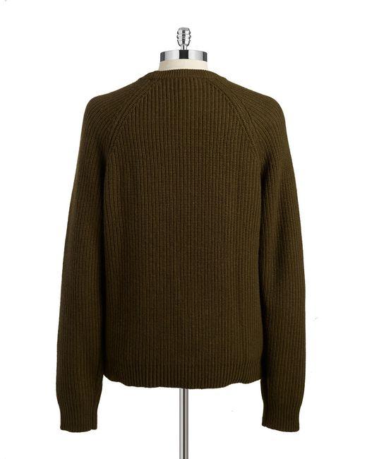 Michael Kors | Green Crewneck Knit Sweater for Men | Lyst
