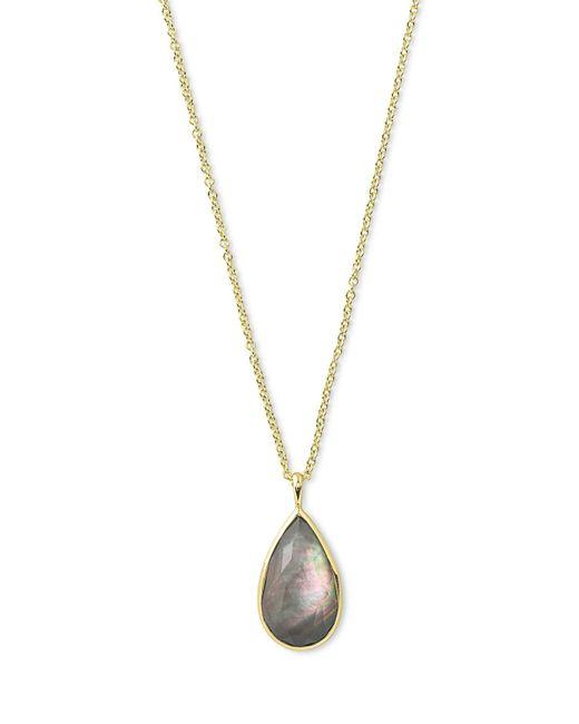 Ippolita   Metallic Rock Candy® Teardrop Pendant Necklace In Black Shell   Lyst