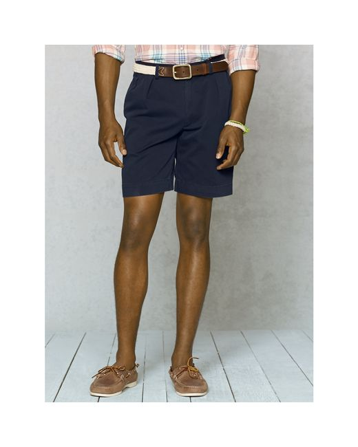 Polo Ralph Lauren | Blue Classic-fit Pleated Short for Men | Lyst