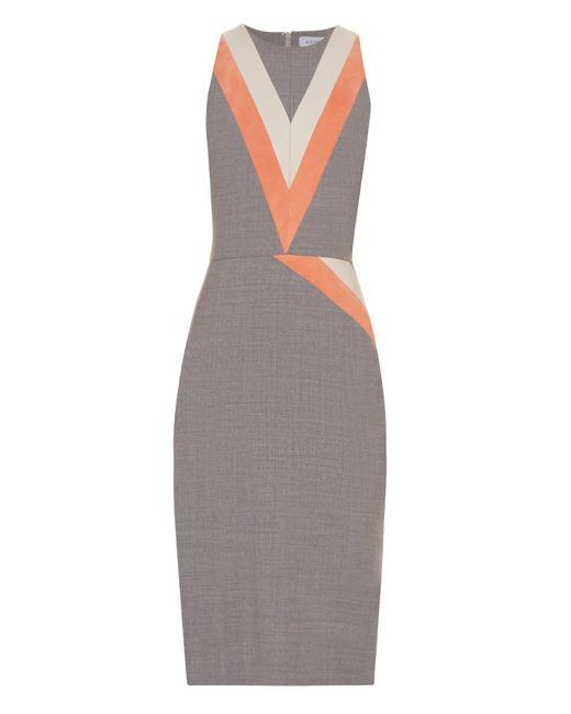 Altuzarra | Gray Klein Chevron-Print Dress | Lyst
