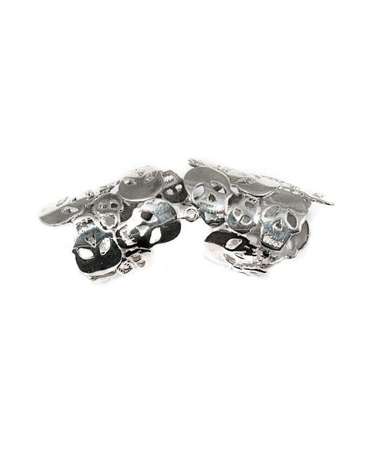 Bernard Delettrez | Metallic Articulated Skulls Silver Ring | Lyst