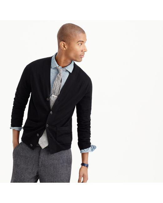 J.Crew | Black Merino Wool Cardigan Sweater for Men | Lyst