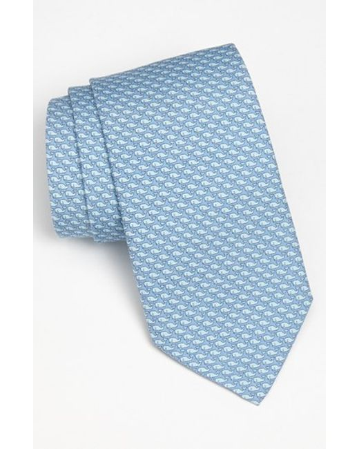 Vineyard Vines | Blue 'whale' Silk Tie for Men | Lyst