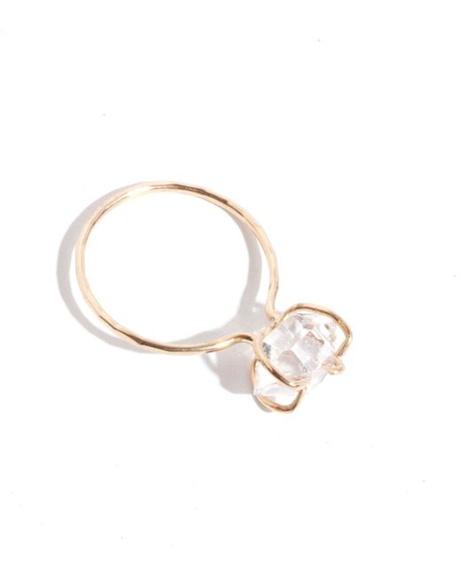 Melissa Joy Manning | Metallic Prong Set Herkimer Diamond Ring | Lyst