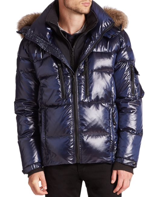 Sam. | Blue Mountain Fur-trimmed Quilted Puffer Jacket for Men | Lyst
