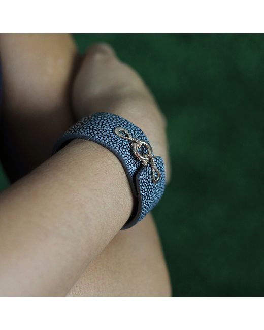 Federica Rettore | Black Grey Stingray And Leather Bracelet | Lyst