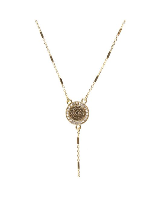 River Island | Metallic Gold Tone Filigree Disc Drop Necklace | Lyst