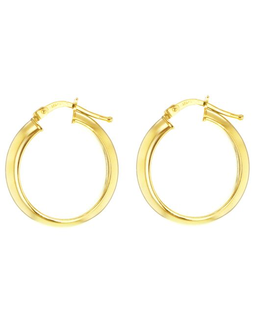 Ib&b | Metallic 9ct Yellow Gold Large Creole Hoop Earrings | Lyst