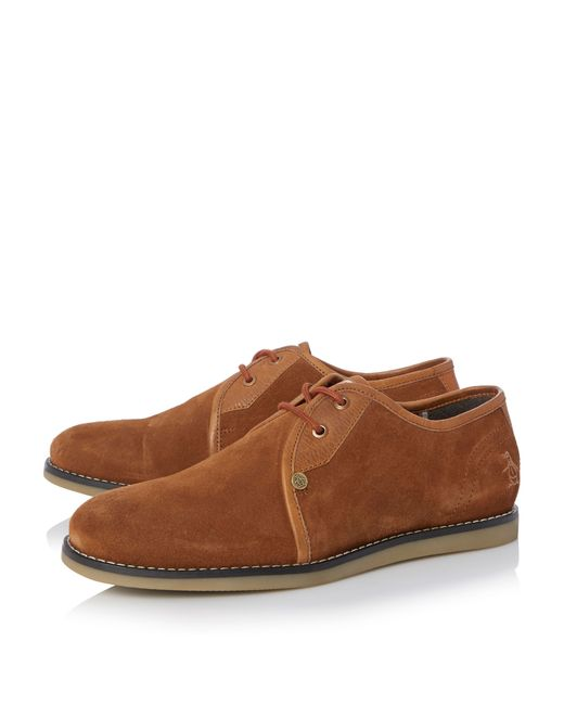 Original Penguin | Brown Legit Suede Lace Up Shoes for Men | Lyst