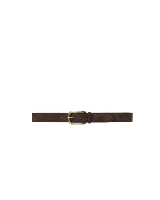 Pink Pony | Brown Curved-buckle Suede Belt for Men | Lyst