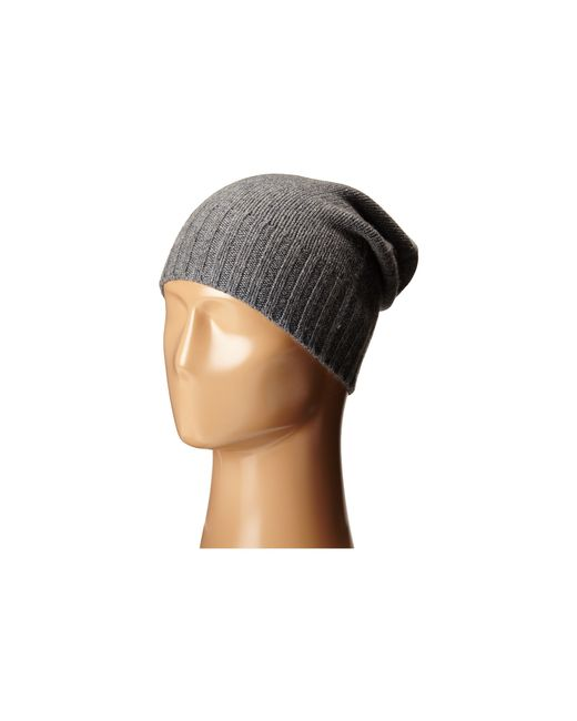 Hat Attack | Gray Cashmere Slouchy | Lyst