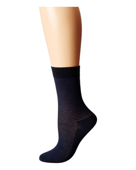 Wolford | Blue Cotton Stripes Socks | Lyst