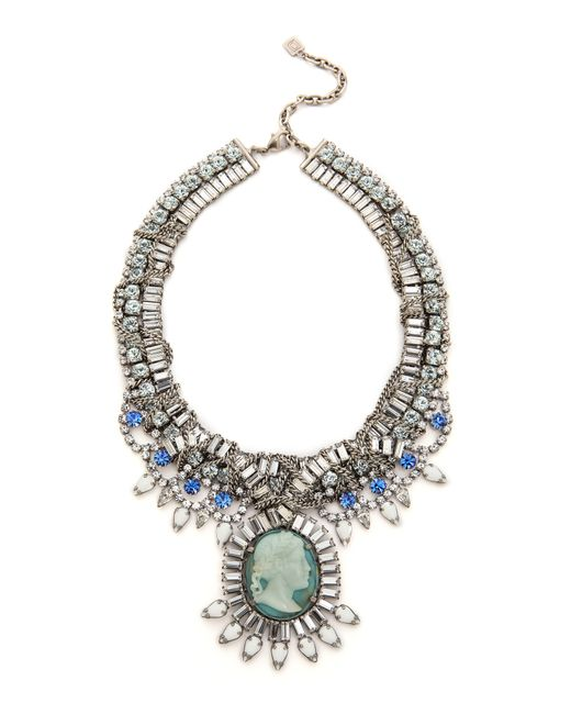 DANNIJO | Metallic Louise Necklace  Silvercrystalcameo | Lyst