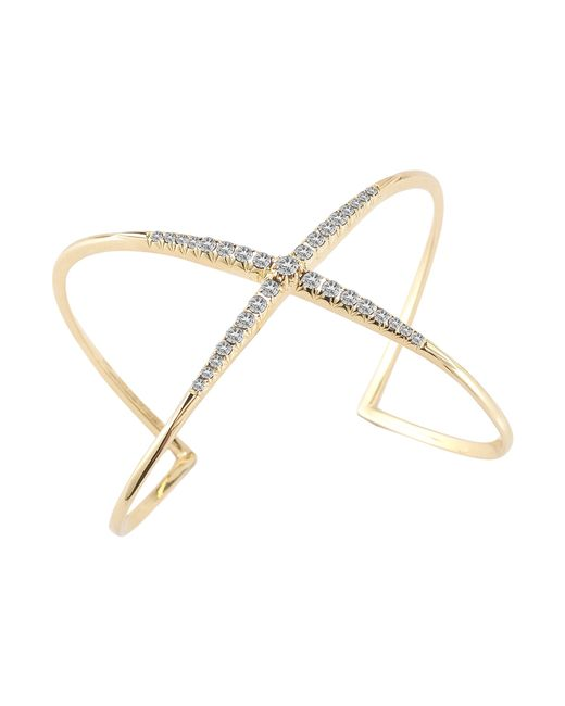 Elizabeth and James | Windrose Pave White Topaz Cuff | Lyst