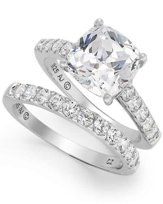 Arabella | Metallic Swarovski Zirconia Bridal Ring And Band Set (8 Ct. T.w.) | Lyst