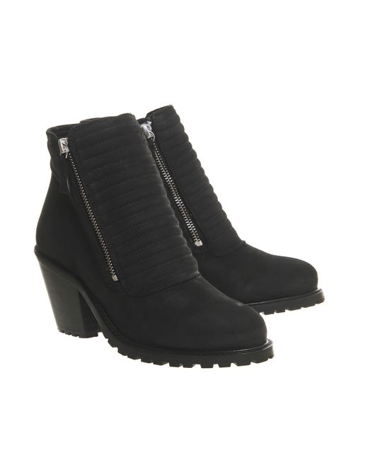 Office | Black Ignite Padded Front Boots | Lyst