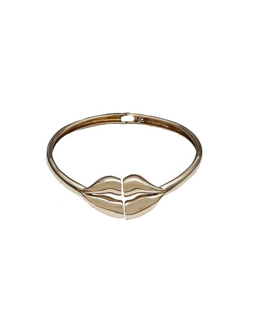 Bernard Delettrez | Metallic Brass Large Lips Necklace | Lyst