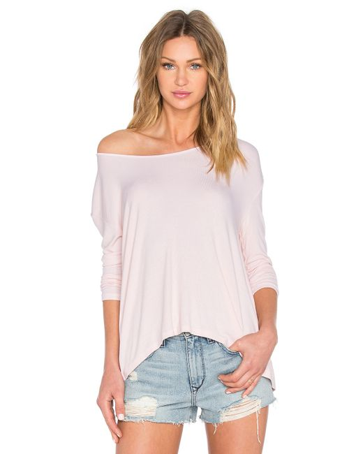 Michael stars crossover back top in white lyst for Michael stars t shirts on sale