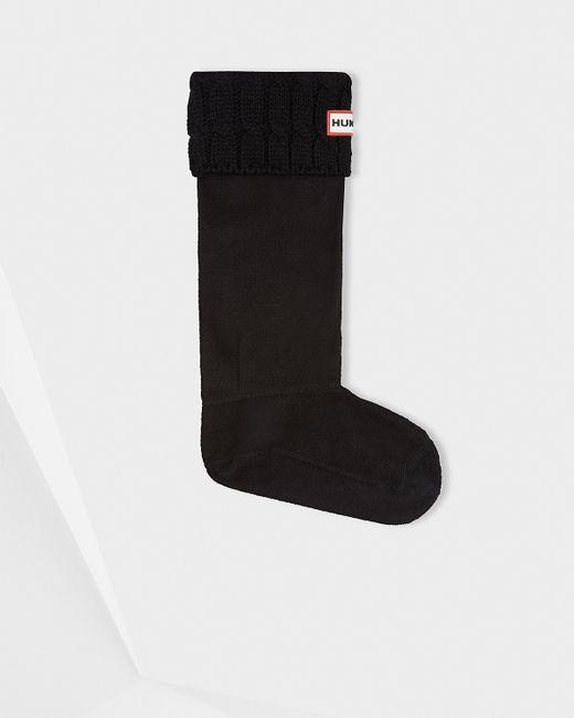 Hunter | Black Original Six-stitch Cable Boot Socks | Lyst