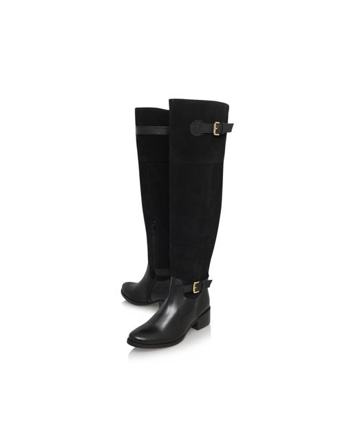 Carvela Kurt Geiger | Black Polly Low Heel Knee Boots | Lyst
