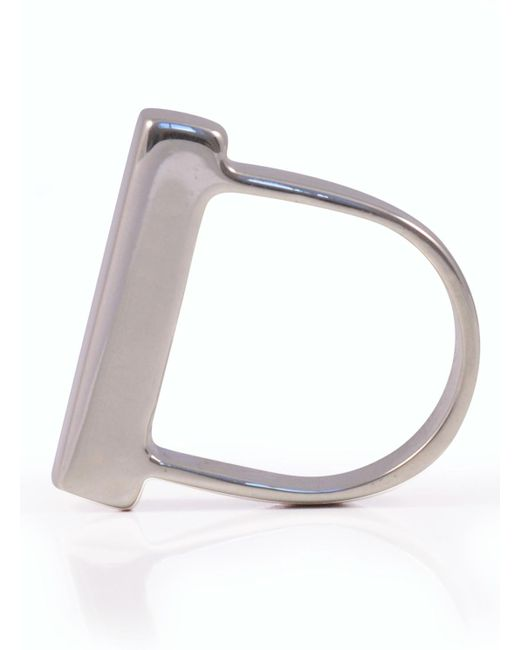 Danielle Foster | Metallic Silver Heavy Top Ring - Last One | Lyst