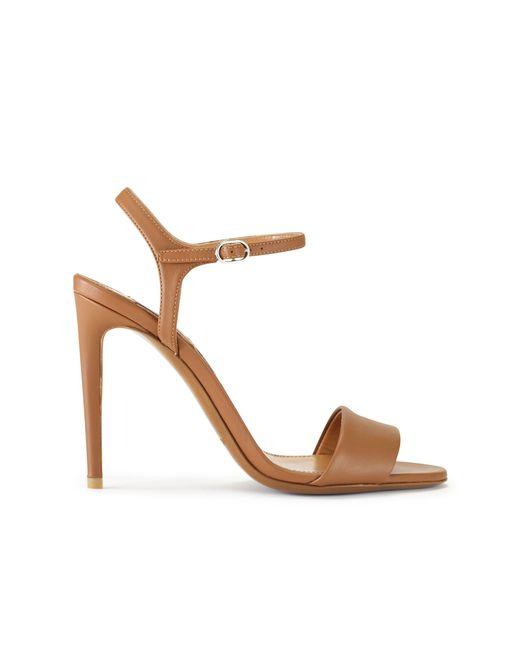 Pink Pony | Brown Blianna Calfskin Sandal | Lyst
