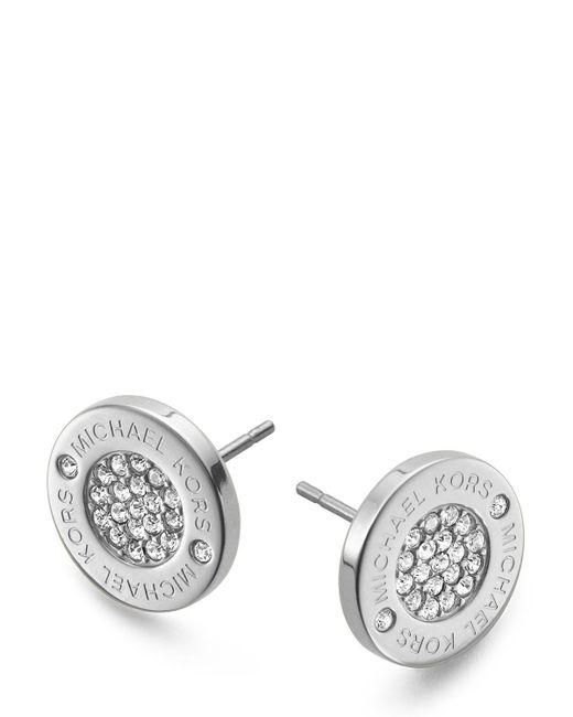 Michael Kors   Metallic Pave Logo Stud Earrings   Lyst