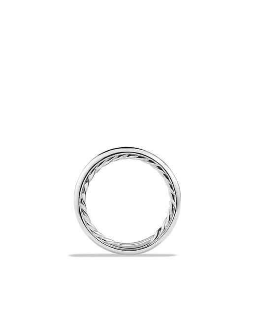 David Yurman | Metallic Wedding Band In Platinum | Lyst